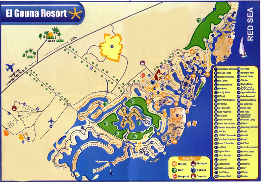 El Gouna Map
