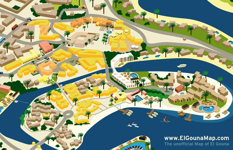 El Gouna Map Downtown 001